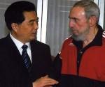 Fidel y Hu Jintao