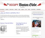 The Occupy Boston Globe