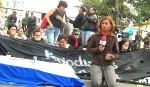 Manifestazione dei giornalisti davanti alla Casa Presidenziale