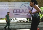 Cartellone della CELAC a Caracas