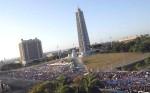 Piazza della Rivoluzione, a Cuba il 1°maggio