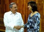 Raul Castro e Angela Holguin