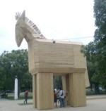 Il cavallo di Troia del mio parco. Foto: Pablo Urbano/Cubadebate