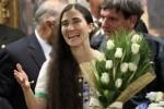 Yoani Sanchez a Madrid. Foto: AP