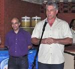 Randy Alonso, direttore di Cubadebate, a sinistra e Miguel Diaz-Canel, primo Vice presidente di Cuba, a destra