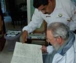 Incontro di Fidel con Maduro a L'Avana il 21 dicembre 2013