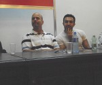 Gerardo e Salim durante la presentazione