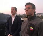 Juan Guaidò (s) e Leopoldo Lopez (d)