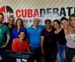 Una parte del collettivo di Cubadebate