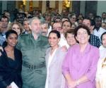 Riunione di Fidel con ambasciatori cubani nel Palazzo della Rivoluzione, 2004, Foto Minrex
