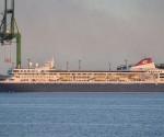 La nave da crociera Braemar nel porto del Mariel