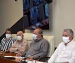Riunione giornaliera di check-up della situazione col nuovo coronavirus a Cuba ed il Piano per il suo contenimento. Foto: Estudios Revolucion