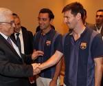 L'accoglienza di Mahmoud Abbas presso la sede della presidenza palestinese alla spedizione del Barça si è spostata a Betlemme nel 2013, nell'ambito del tour 'Peace Tour'.